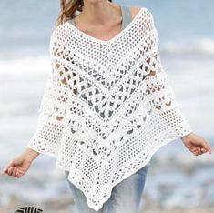 Crochet Poncho  Make the perfect spring or summer accessory, a comfortable and stylish poncho. Its also perfect to make as a gift for someone special.