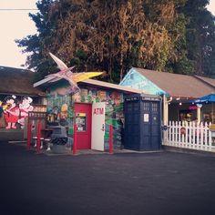 #eastsidebigtoms #bigtoms #food #burgers #fun #family #local #community #dinosaurs #policebox #creative #art #Olympia #Washington #WA #PNW #Lacey #mymixx96