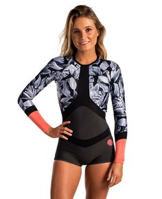 Madison 1mm Long Sleeve Boyleg Spring Wetsuit | Womens Spring Suit Wetsuits | Springsuits | Rip Curl Australia