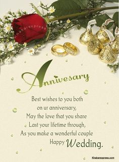 best wishes to you both on your wedding anniversary!!