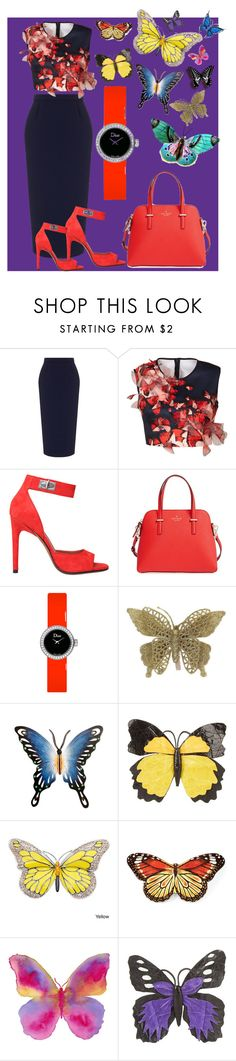 """""""Color"""" by emmab2020 ❤ liked on Polyvore featuring Roland Mouret, Clover Canyon, Givenchy, Kate Spade, Christian Dior, NOVICA, Nancy Gonzalez and Juliska"""