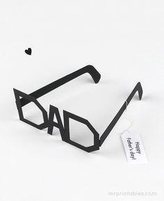 Día imprimir Tipografía Gafas de padre - Sr. Imprimibles