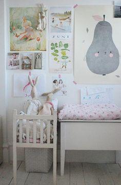 Mooie muur voor meidenkamer. Door fluppie77