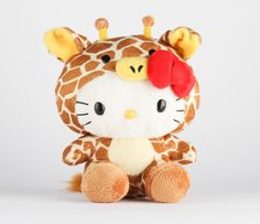"Hello Kitty 8"" Safari Plush: Giraffe"