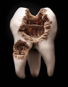 This was a creative advertisements by Illusion, that was used for a mouth wash advertisement. This relates to chapter 24's fear appeal, people will fear that their teeth will start rotting out into little homes for germs unless they use this brand of mouth wash.