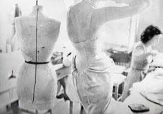 Workroom, House of Dior, Paris, August 1947. Photographed by Richard Avedon.
