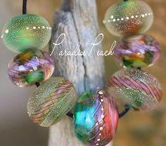 Limerick+Violet+Fire+Rounds+(7)++Handmade+Glass+Lampwork+Beads+SRA+