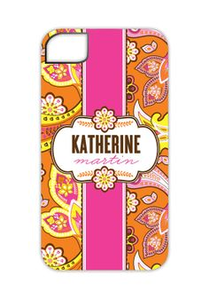 @Courtney Baker Whitmore Pizzazzerie Picks - Pink and Orange Paisley iPhone 4/4S Case.