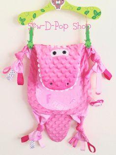 Florida Gator Alligator Pink Baby Blanket Lovey by SewDPopShop