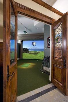 Paula Grace Designs: golf simulator for my hubby
