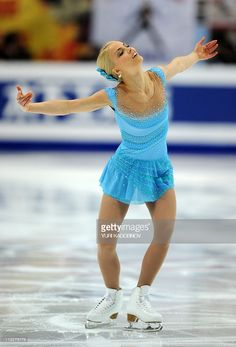 Finland's Kiira Korpi performs during the ladies's short program event of the ISU World Figure Skating Championships on April 2011 in Moscow. Get premium, high resolution news photos at Getty Images Roller Skating, Ice Skating, Hot Figure Skaters, Dance Costumes Lyrical, World Figure Skating Championships, Ice Girls, Figure Skating Dresses, Ice Princess, Sports Figures
