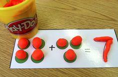 Play-Doh fun for math/literacy centers! Math Gs, Math School, Math Work, Math Literacy, Word Work, Kindergarten Centers, Math Centers, Kindergarten Assessment, Writing Centers