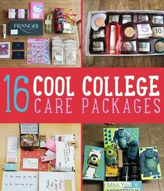 16 Cool College Care Package Ideas   Fun, Memorable & Creative Food Tricks For Girls & Boys by DIY Ready at http://diyready.com/16-cool-college-care-package-ideas/