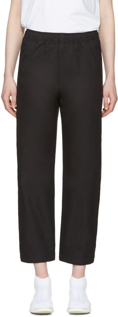 MSGM Black Parachute Lounge Pants. #msgm #cloth #pants