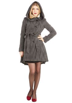 Once Upon a Thyme Coat in Salt and Pepper | Mod Retro Vintage Coats | ModCloth.com