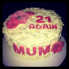 21 again buttercream cake