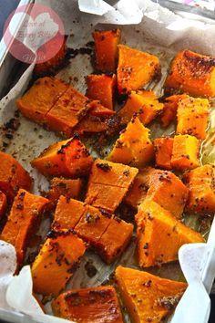 ricetta per zucca al forno - recipe for mustard glazed pumpkin