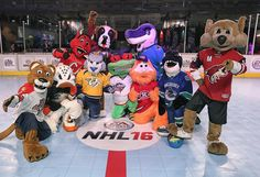 """#NHLFanFair is now open and the Mascot Showdown kicks off tonight.  Follow along on Snapchat('nhl') for live coverage."""