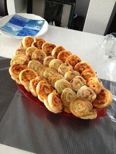 käse-schinken-Schnecken .. super lecker und leicht gemacht