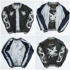 Japan Japanese Dragon Ryu Hawk Tattoo Eagle Embroidered Sukajan Souvenir Jacket - Japan Lover Me Store