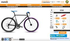 http://www.mangobikes.co.uk/bikes/custom/custom-build-your-16-speed  Extras have their own 'add to bag'