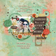 Oh So Happy template set by Two Tiny Turtles Cherish Kit by Amber Shaw