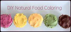 DIY Natural Food Coloring