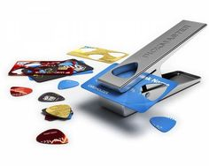 DIY Guitar Pick Punch / Pickmaster is a must have for all guitar heroes. Whether you're a private Jimi Hendrix who only allows your bedroom walls to hear you strum or a fully fledged pro. http://thegadgetflow.com/portfolio/diy-guitar-pick-punch/