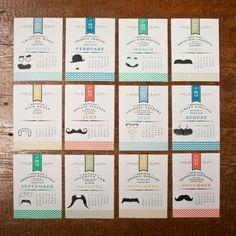 Mustache Calendar, $28   29 Creative Calendars You Can Make Or Buy