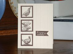 Walk in the Wild, Banner Greetings - SU stamp sets - nice masculine card!