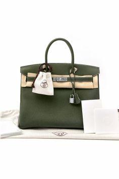 4b8eaec46c Hermes Canopee Green Togo Birkin Bag 35cm Hermes Birkin