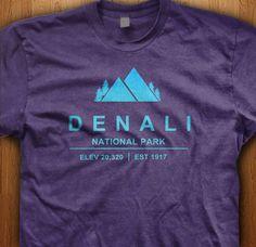 Denali National Park Shirt  Alaska America USA State by LuvKyandii