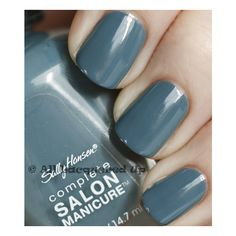 Sally Hansen gray nail polish.