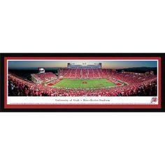 BlakewayPanoramas NCAA Utah, University of - 50 Yard Line by James Blakeway Framed Photographic Print