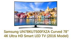 "Latest Samsung UN78KU7500FXZA Curved 78"" 4K Ultra HD Smart LED TV (2016 ..."