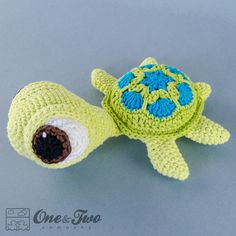 Bob the Turtle Amigurumi PDF Crochet Pattern от oneandtwocompany
