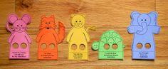 Moldes de Dedoches de Animais para Imprimir | Espaço Infantil
