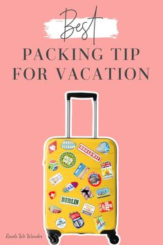 Discover the best suitcase packing tip for vacation! Do you struggle to fit all of your things in your carry-on size suitcase? Then, you need to read this! Save space and pack all of your essentials with this packing tip for your next vacation! Beach Vacation Packing List, Packing Tips For Vacation, Travelling Tips, Travel Advice, Travel Tips, Best Packing Cubes, Suitcase Packing Tips, Best Suitcases, Packing Clothes