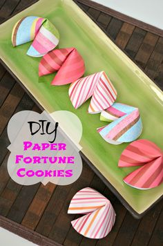 DIY Paper Fortune Cookies #pinworthyprojects
