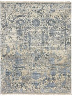 Finely detailed wool and silk hand-knotted Flen rug - NEW from Surya (FLN-7001).