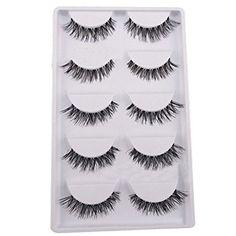 Demarkt 5 Pairs Lot Black Cross False Eyelash Soft Long Makeup Eye Lash Extension: Amazon.co.uk: Beauty