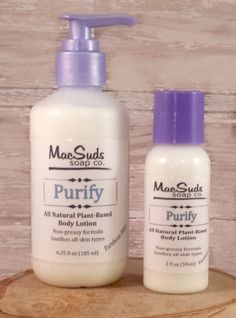 Purify hand and body lotion, essential oil lotion, calendula lotion, antibacterial lotion, eczema lotion by MacSudsBody on Etsy