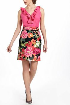 Might have found the perfect dress for Graduation- add a little cardigan and good to go :) Great Escape Dress #anthropologie