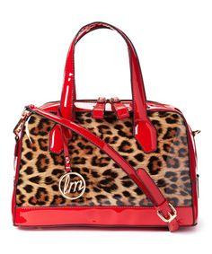 Loving this Red Leopard Satchel on #zulily! #zulilyfinds