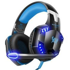 Stereo Gaming Headset for PC, Xbox One, Nintendo Switch, Wired Gaming Chat Headphones with Surround Sound, Noise-Cancellation Microphone,Volume Control & LED Lights Gaming Headphones, Headphones With Microphone, Headphone With Mic, Over Ear Headphones, Best Gaming Headset, Ps4 Headset, Ps4 Or Xbox One, Xbox One Controller, Xbox 360