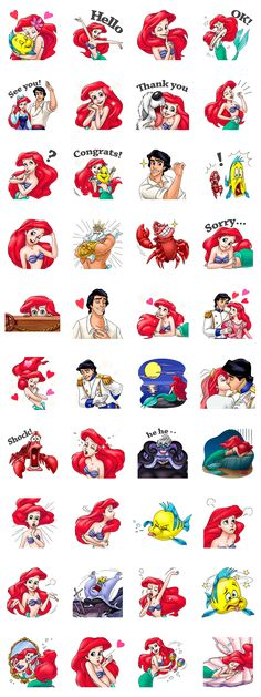 Introducing the fabulous sticker set from The Little Mermaid. Join in on all the joy and laughter from under the sea with Princess Ariel and friends!