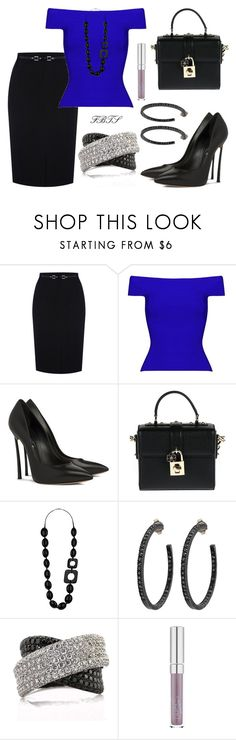 """""""I Can Rock A Skirt"""" by flybeyondtheskies ❤ liked on Polyvore featuring Oasis, Dolce&Gabbana, Wallis, Yossi Harari and Mark Broumand"""