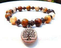 Baum des Lebens Armband, Edelstein-Armband, Boho Armband Perlen Armband Armband der Stein Armband-Baum, Baum des Lebens Schmuck täglichen Armband