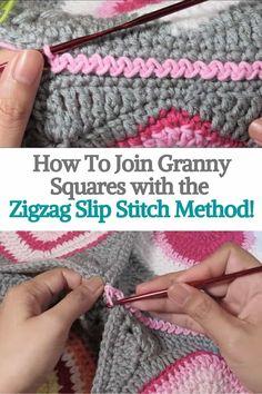 Joining Crochet Squares, Granny Square Crochet Pattern, Crochet Granny, Crochet Blanket Patterns, Connecting Granny Squares, Crochet Square Blanket, Crochet Stitches For Blankets, Crochet Stitches Free, Afghan Crochet
