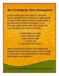 Feeling #stressed? Try Mrs. B's recipe for #StressManagement